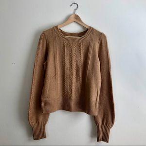 Lucky Brand Puff Sleeve Sweater SUPER SOFT Sz S